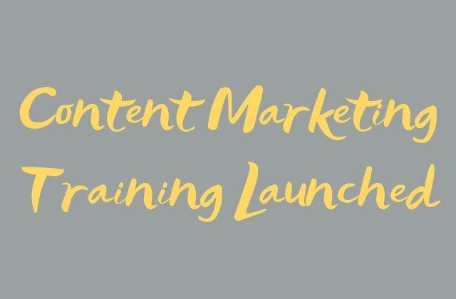 Content marketing training Glasgow